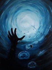 głęboka błękitna cisza